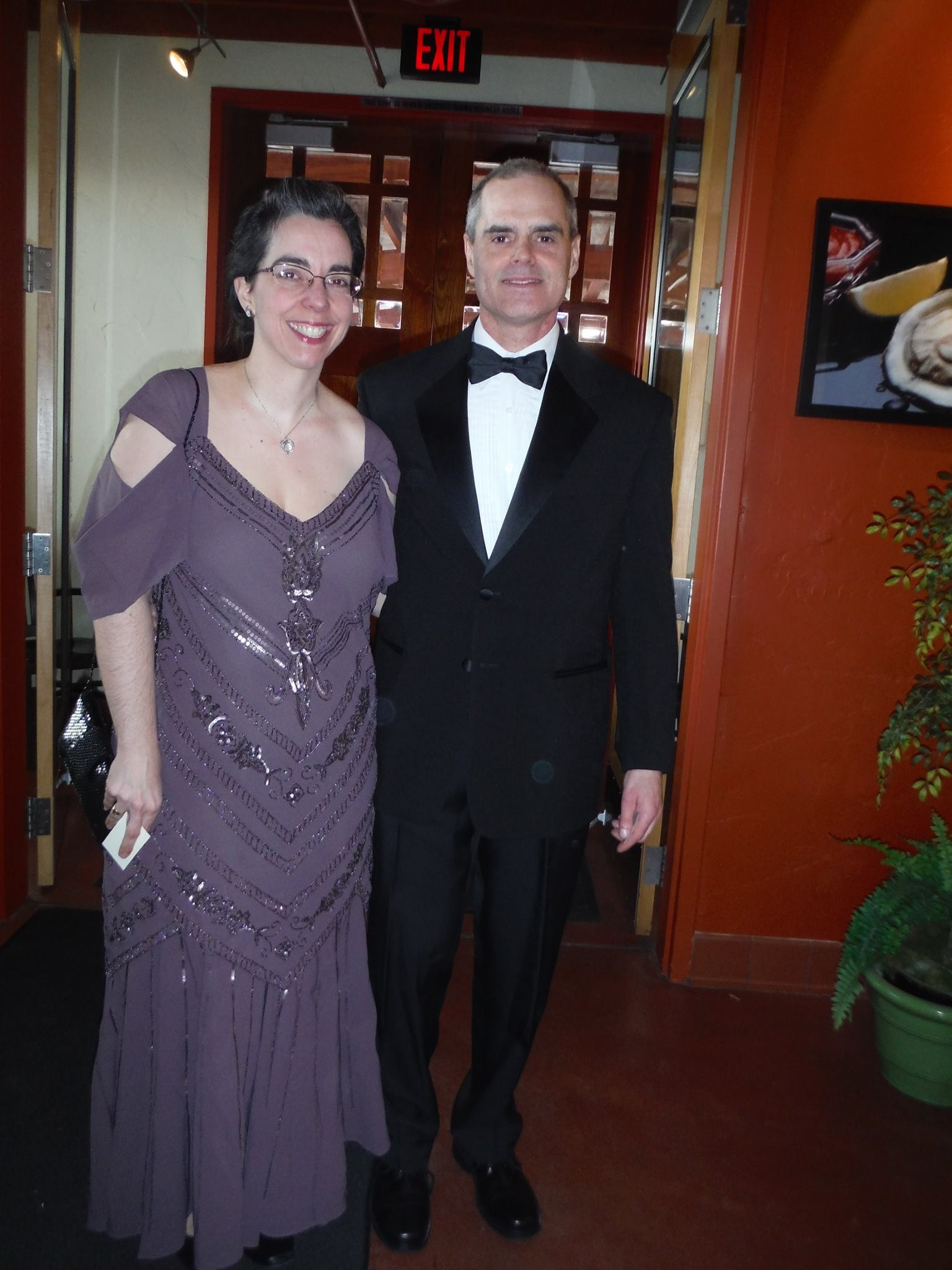 All dressed up for a special date night at a Downton Abbey themed fundraiser dinner.