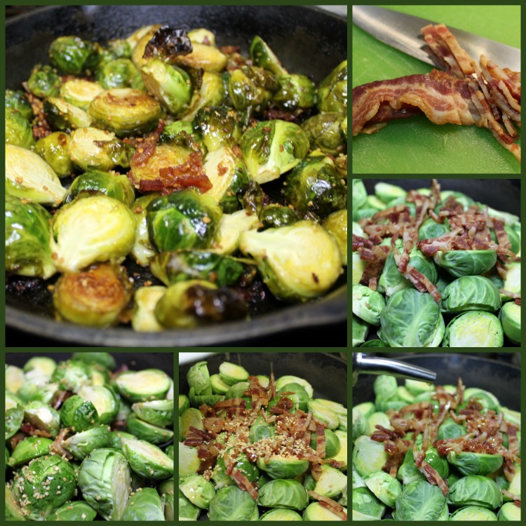 Just a few quick steps to get gorgeous roasted brussel sprouts