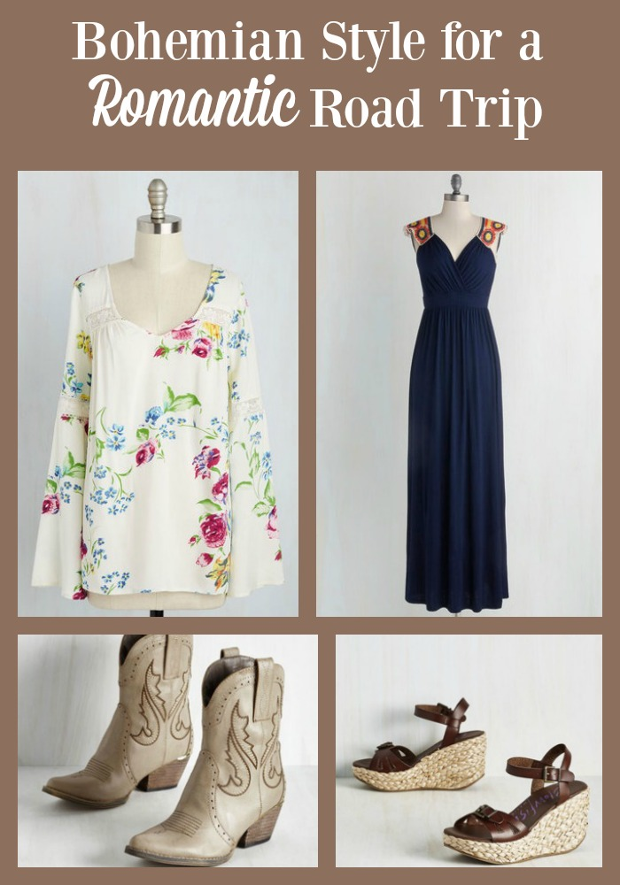 Shopping at ModCloth, you can find pieces to create a Bohemian Style for a Romantic Road Trip this spring or summer.
