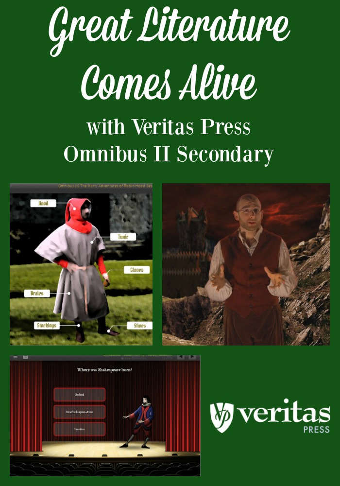 Want to Bring Great Books to Life for your homeschool student? Veritas Press Omnibus II Secondary self-paced does just that! Read our review of the program.