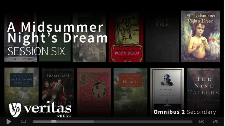 A Midsummer Night's Dream is just one of the great books featured in Veritas Press' Omnibus II Secondary self-paced course.