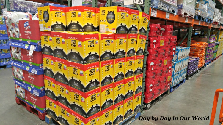 we found the boxes of tidy cat at costco in anchorage on an end cap display