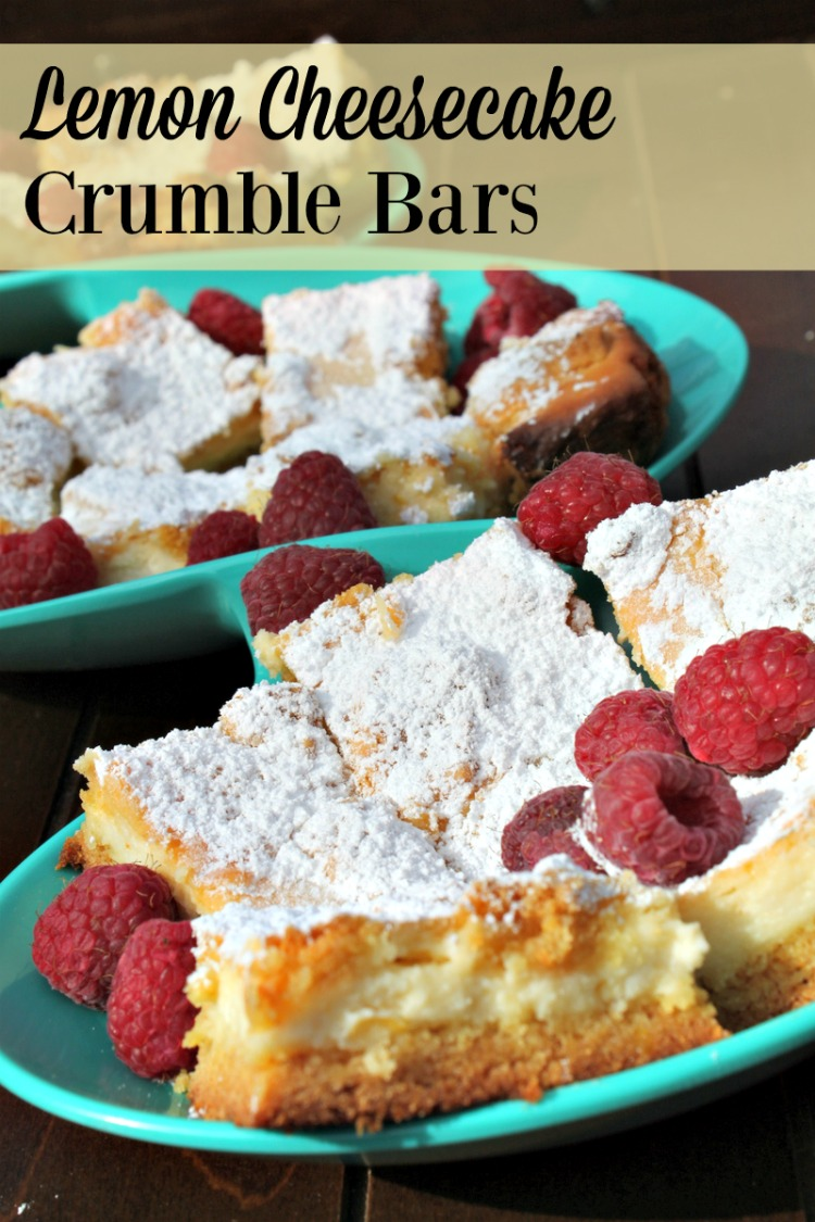 Welcome Spring with a dessert that is lighter on the palate. Lemon Cheesecake Crumble Bars paired with fresh berries is a perfect dessert option!