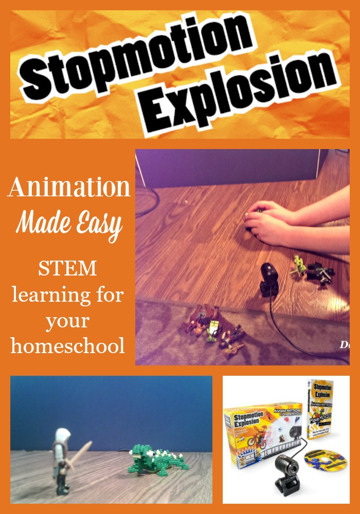 Your child can learn animation with Stopmotion Explosion and have fun with STEM learning in your homeschool.