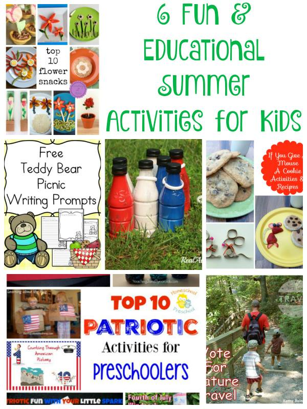 6 Fun and Educational Summer Activities for Kids as featured on Good Tips Tuesday