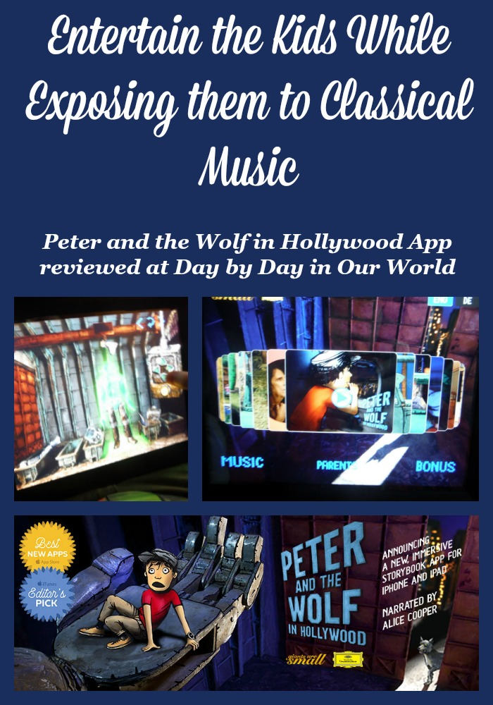 Do your kids enjoy animated stories on the iPad? Take a look at the new Peter and the Wolf in Hollywood App which entertains as well as exposes kids to awesome classical music.