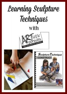 Have a middle or high school student wanting to do sculpture? ARTistic Pursuits can have them learning in quick order!