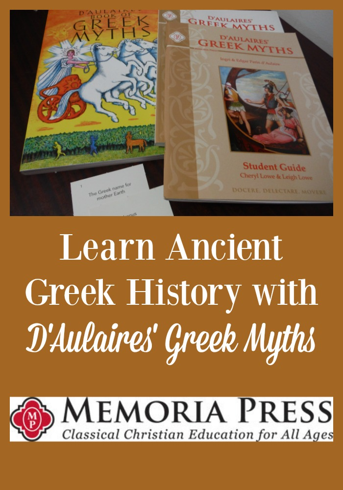 Learn Ancient History with D'Aulaires' Greek Myths. Read our Review of the program.