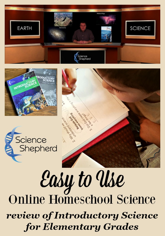 Looking for an easy to use Christian online homeschool science program? Take a look at our review of Science Shepherd's Introductory Science for elementary grades.