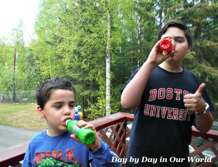 My boys give thumbs up for Fruit Shoot as a way to refresh while having fun adventures