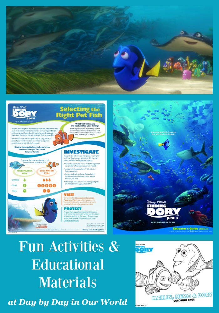 Go beyond just watching the movie. Find fun activities and educational materials for Finding Dory.