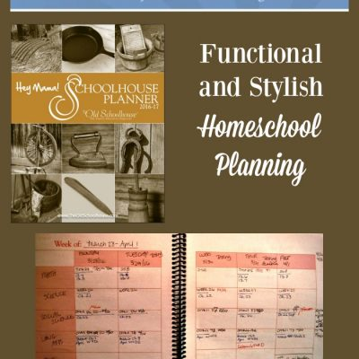 Hey Mama! Schoolhouse Planner for Homeschool Organization