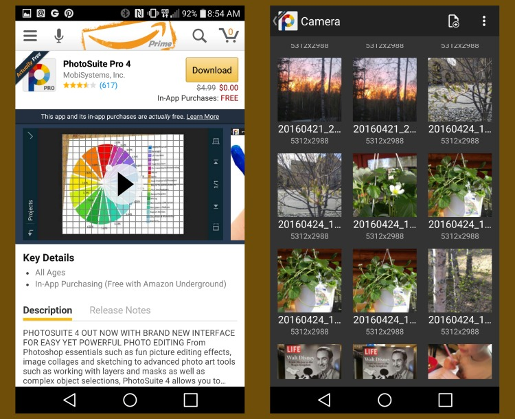 PhotoSuite Pro 4 is one of the productivity apps available in Amazon Underground