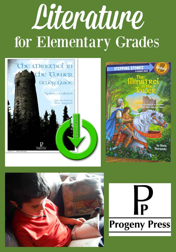 Progeny Press offers literature study guides for elementary grades. Read our review of The Minstrel in the Tower.
