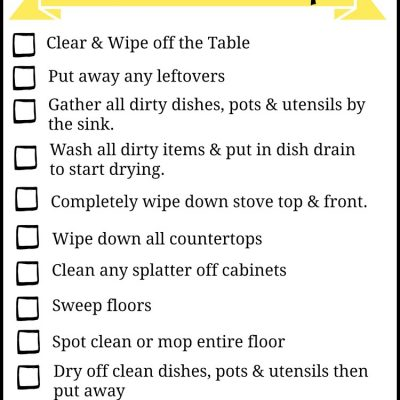 Don't Let Dishes Get You Down! Kitchen Clean Up Made Easier