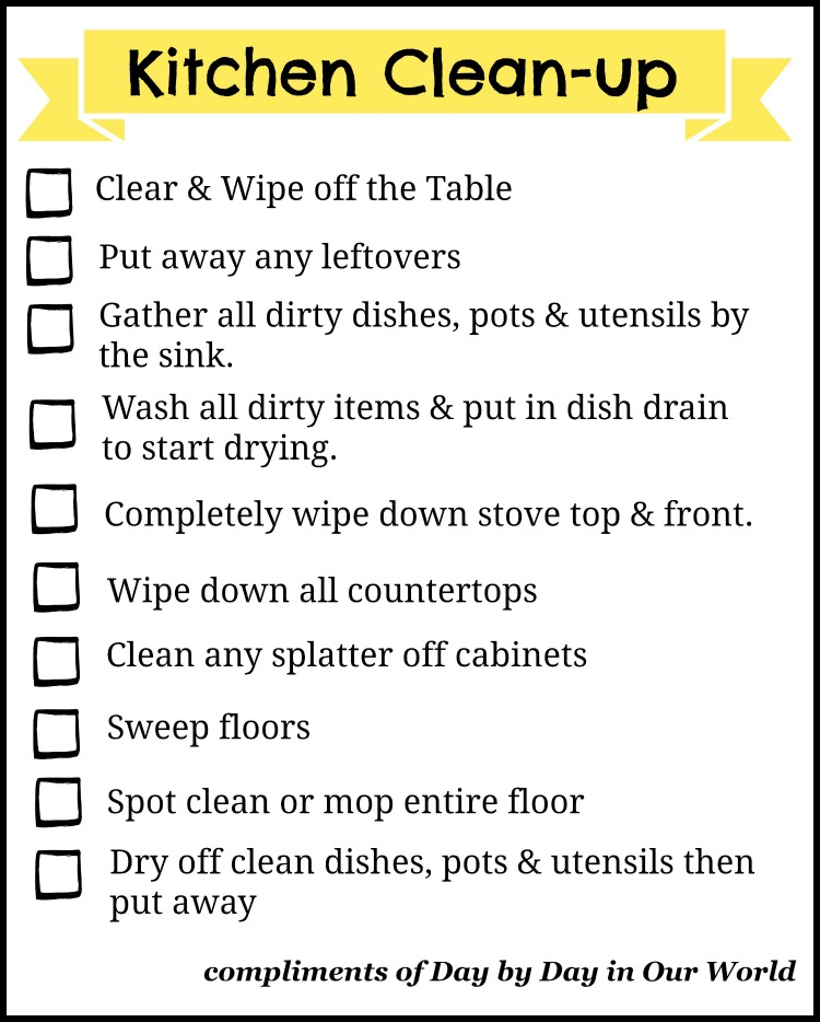 Don 39 t let dishes get you down easier kitchen clean up for How to keep the kitchen clean
