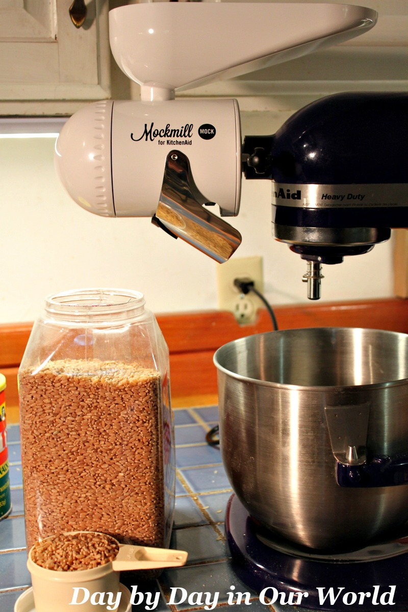 Grab your favorite grain and start grinding with the Mockmill and your KitchenAid stand mixer.