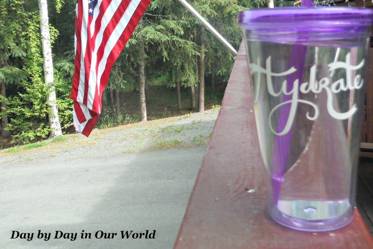 Hydrate Cup Made with a Cricut and Vinyl