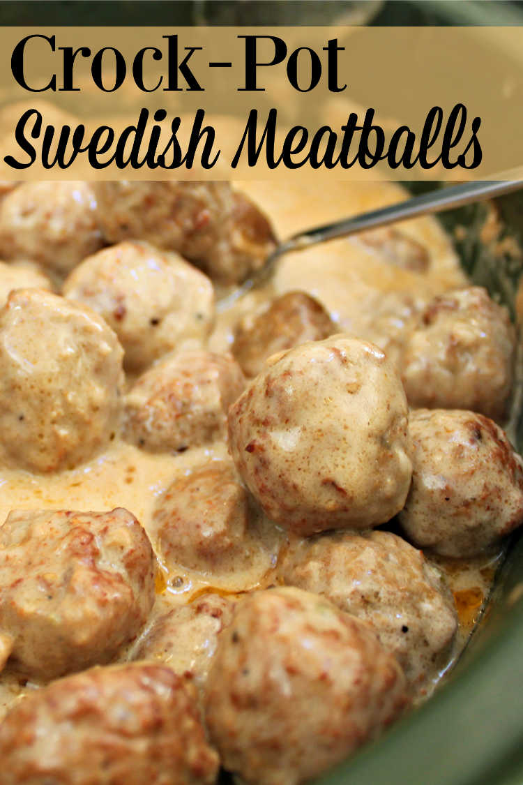Looking for an easy main dish or appetizer? Try this recipe for Crock-Pot Swedish Meatballs. They taste great on their own or served over egg noodles