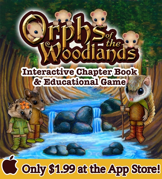 Orphs of the Woodlands at Tangletree is an interactive book full of activities that are educational in nature.