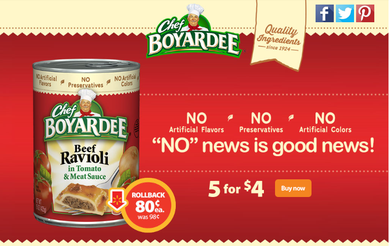 Chef Boyardee on Rollback at Walmart #SaveOnChef #ad