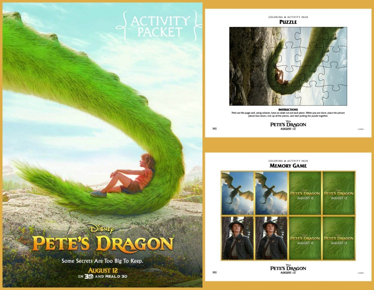 Imaginative Play and Fun Activities based on Disney's Pete's Dragon 2016