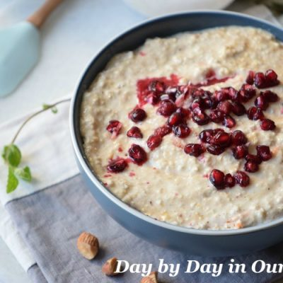 Start Your Day with Pomegranate Oatmeal for Breakfast