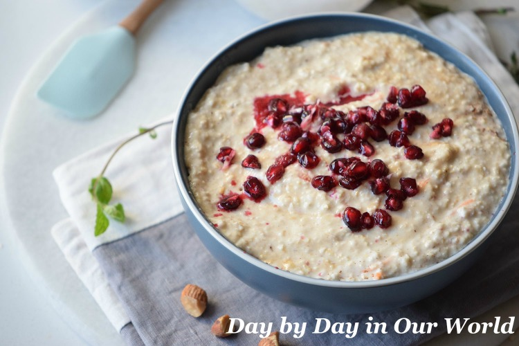 Try something different and make Pomegranate Oatmeal