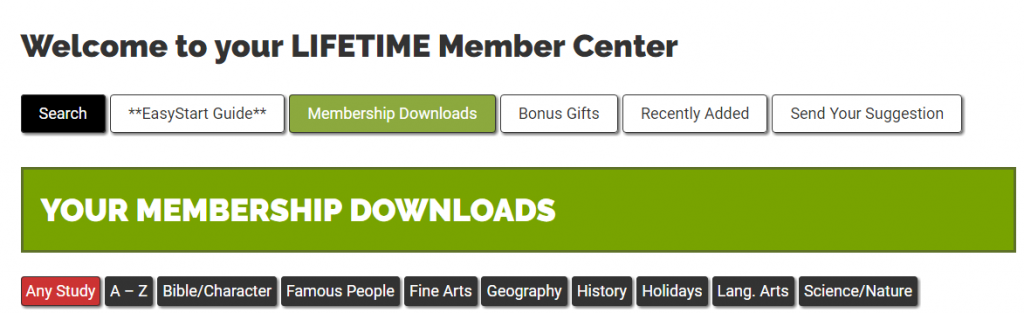 Welcome to your LIFETIME Member Center — Notebooking Pages
