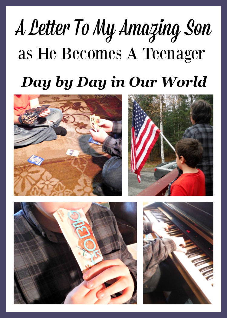 I took the challenge from Yoplait to write a letter to my teenage son. All of my boys are amazing and I love having the opportunity to tell them that.