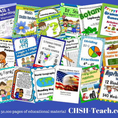 CHSH Download Club: One Stop for Homeschool Curriculum Resources