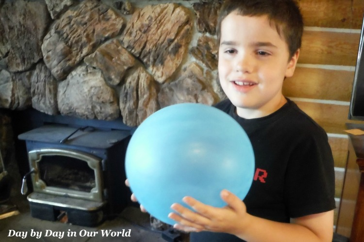 Getting the Feel of the SuperWubble Bubble Ball.