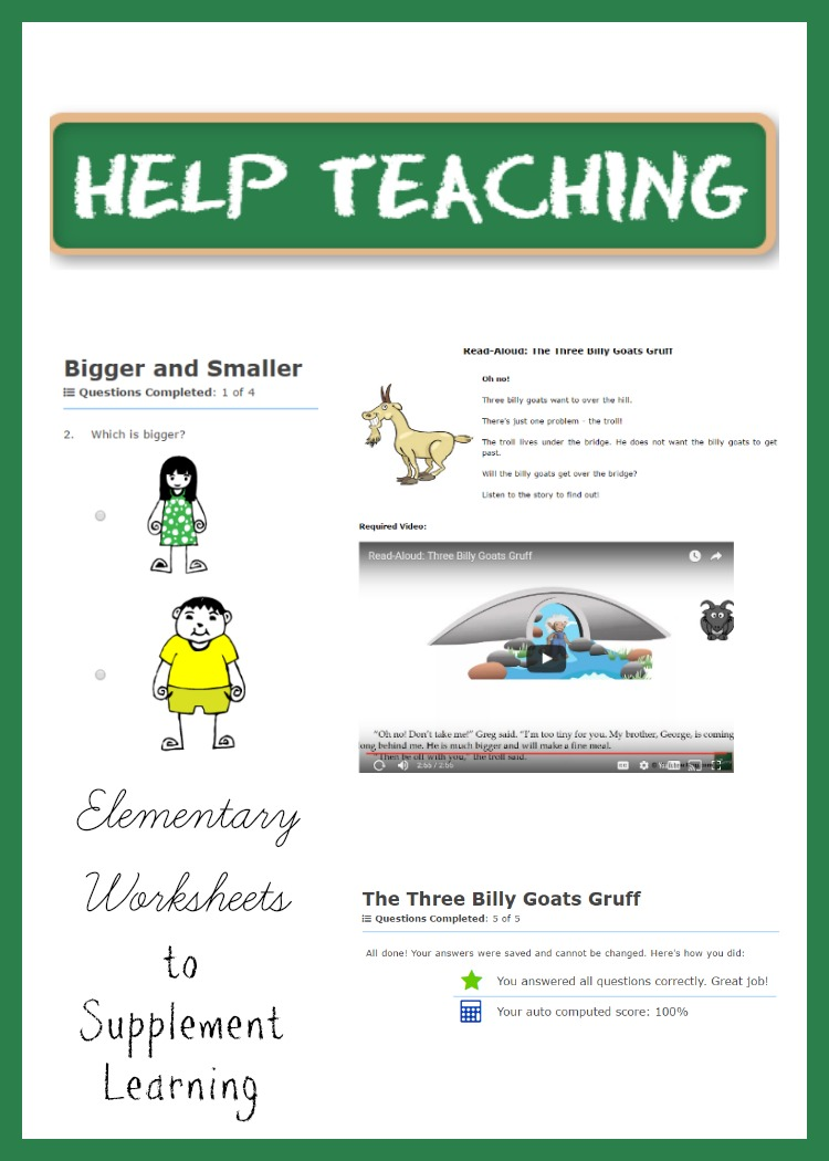 Worksheets For Learning Support : Help teaching elementary worksheets to supplement learning