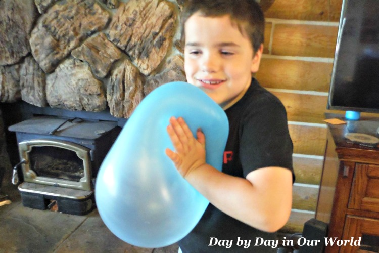 The SuperWubble Bubble Ball can be squished. Now that's something an ordinary ball can't do!