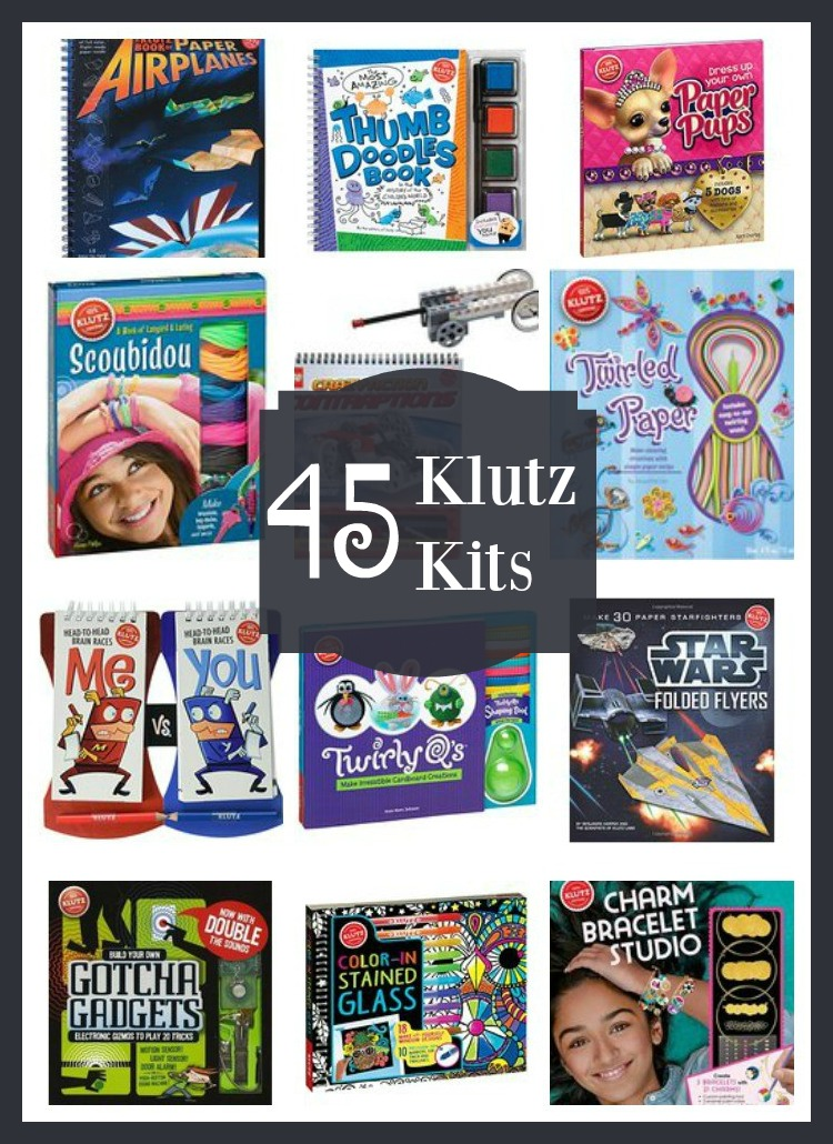 45 Klutz Kits for Kids that are fun and promote learning.