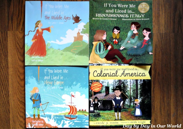 Four books we reviewed from the new series of history books by Carole P Roman.