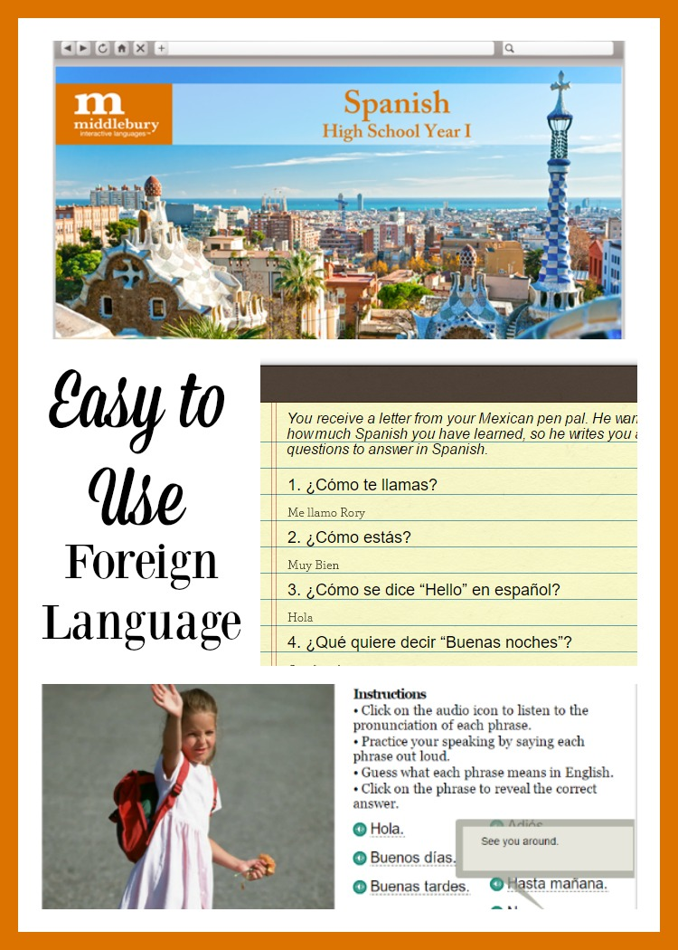 Easy to Use High School Foreign Language Instruction: Spanish I