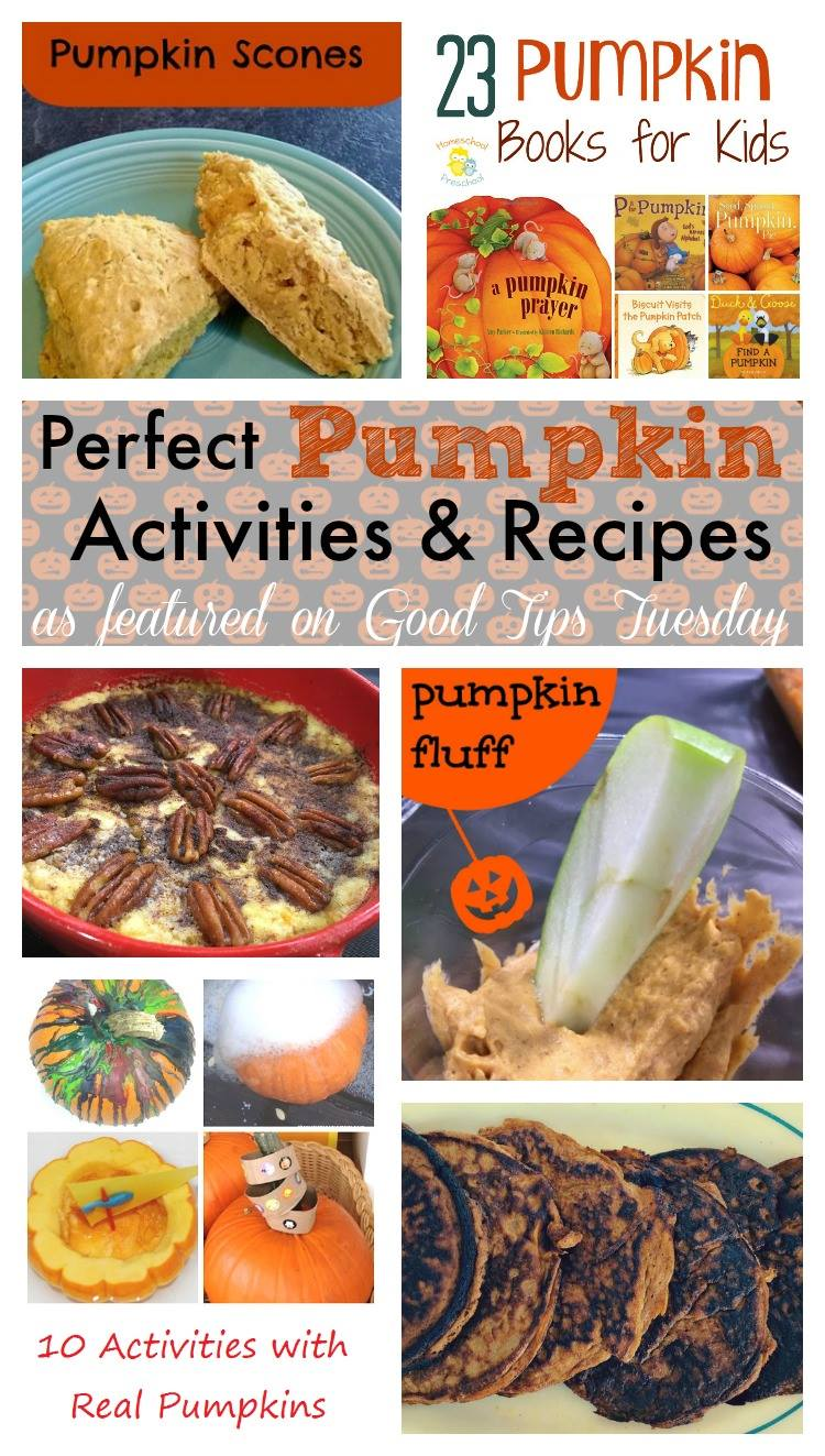 Check out these awesome pumpkin activities and recipes at Good Tips Tuesday cohosted at Day by Day in Our World.