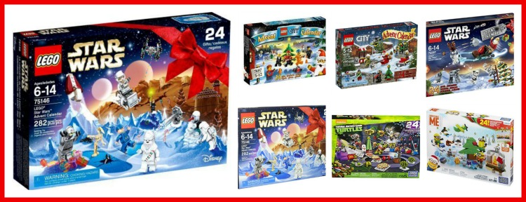 Building Block Style Advent Calendars from LEGO and MegaBlock,