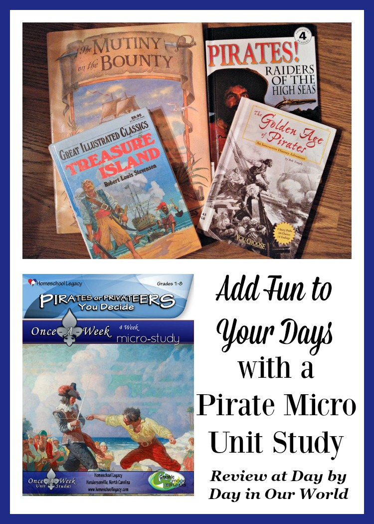 Embrace a unit study approach for short term interest studies. Review of Pirates or Privateers: You Decide from Homeschool Legacy.