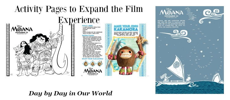Enjoy Moana Activity Pages to expand the film experience