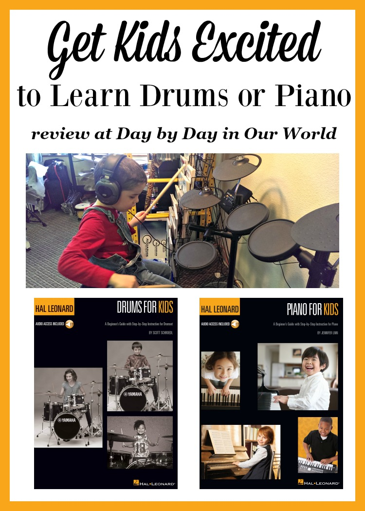 Have a Child who wants to learn drums or piano? Learn more about the new beginner books from Hal Leonard.