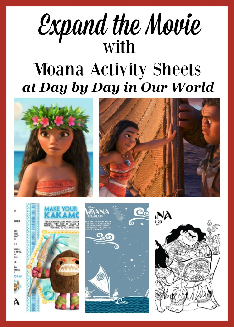 Looking to expand the experience after watching Moana? Grab a few of these activity sheets.