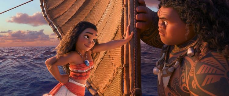 Moana learns from mighty demigod Maui
