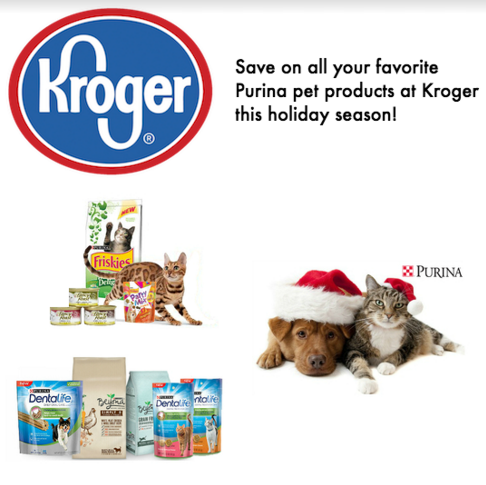 Save Money at Kroger on Purina Pet Products