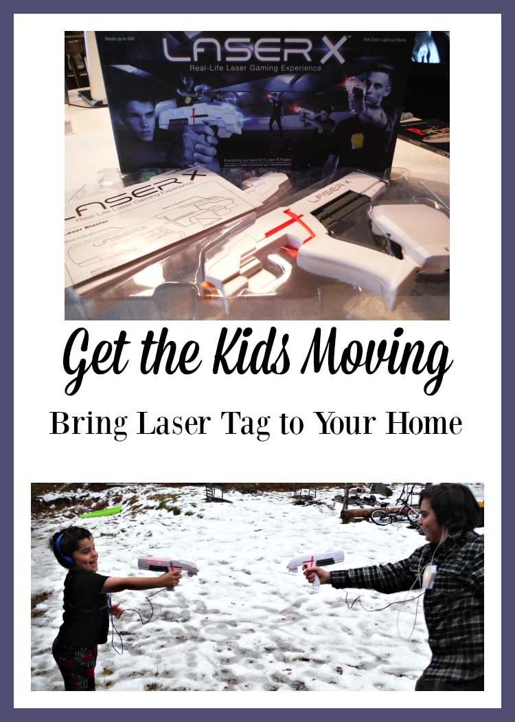 Want to find a way to get the kids moving instead of playing video games inside? Bring laser tag home with Laser X.