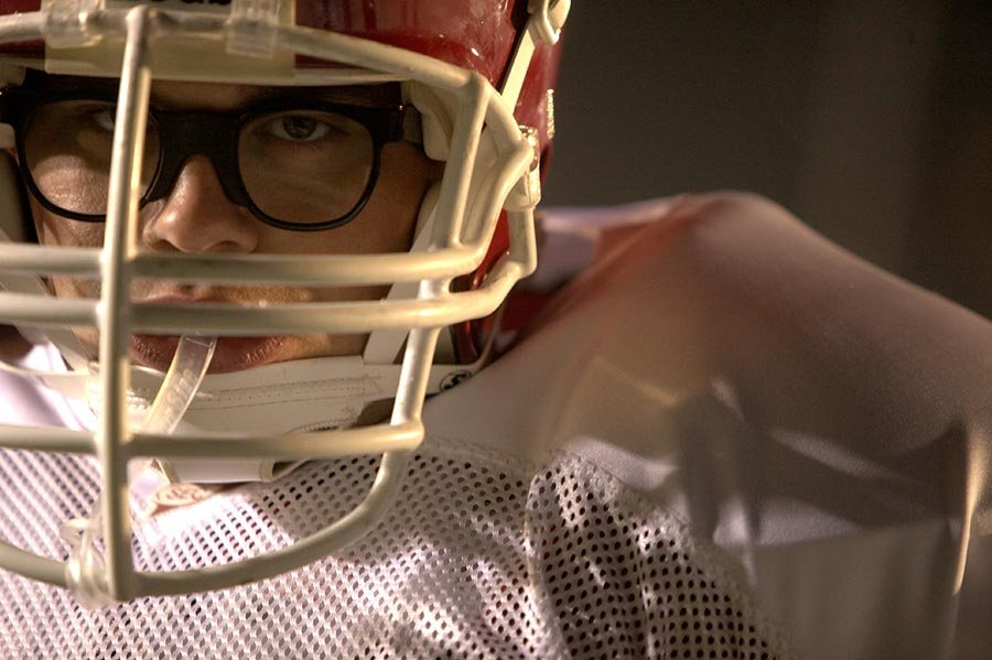 Greater movie review Christopher Severio as Brandon Burlsworth.