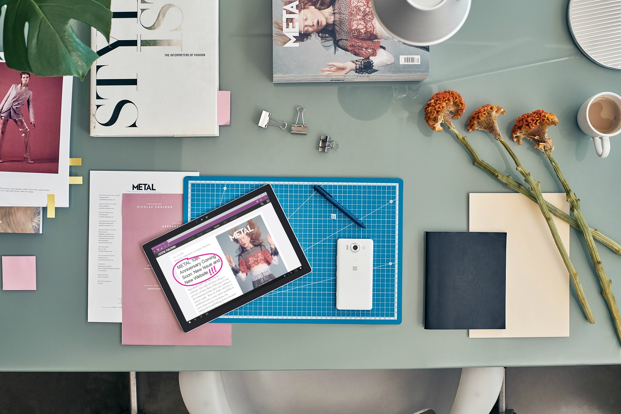 Less Space needed makes the Surface Pro 4 the perfect option to work anywhere.