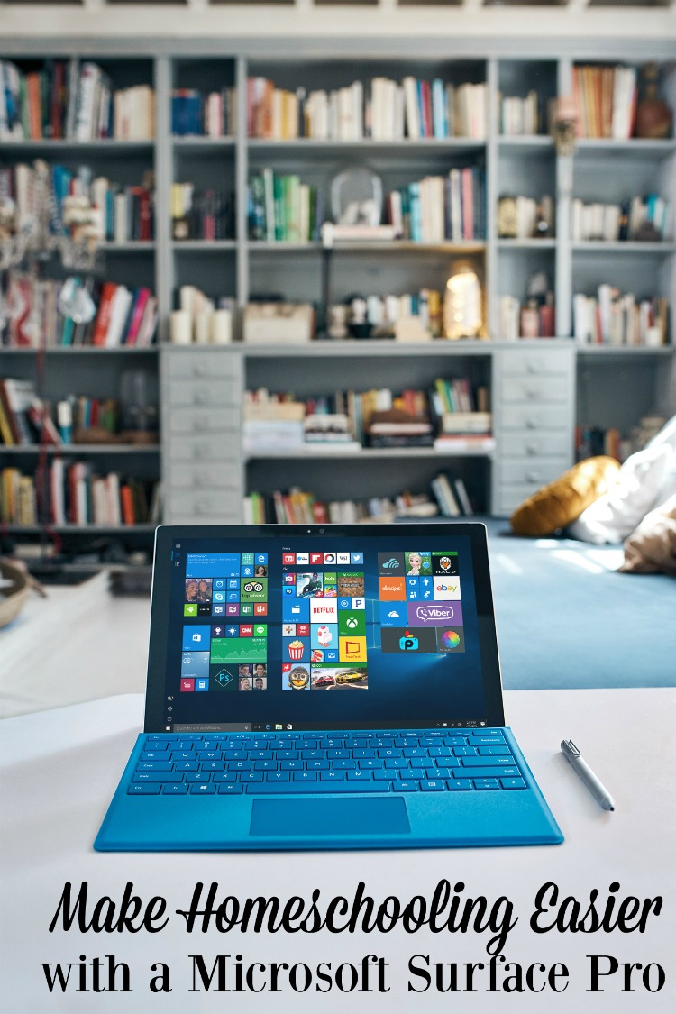 Looking to make homeschooling easier? A Microsoft Surface Pro can help!