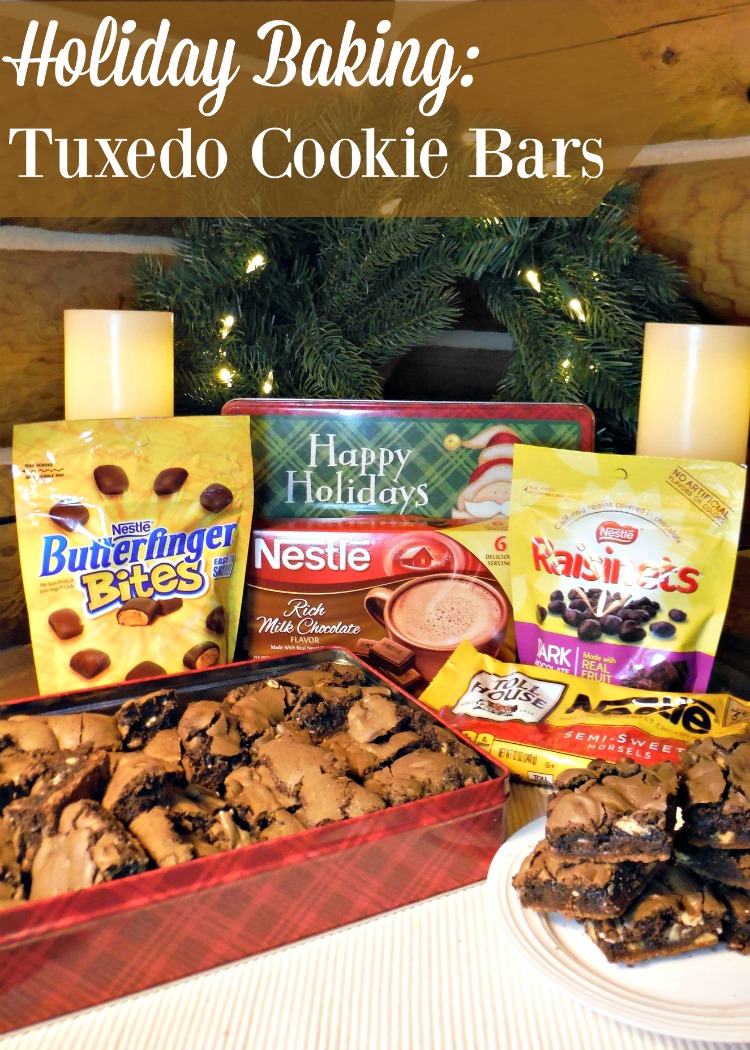 Need something decadent for the holidays? Tuxedo Cookie Bars will satisfy.